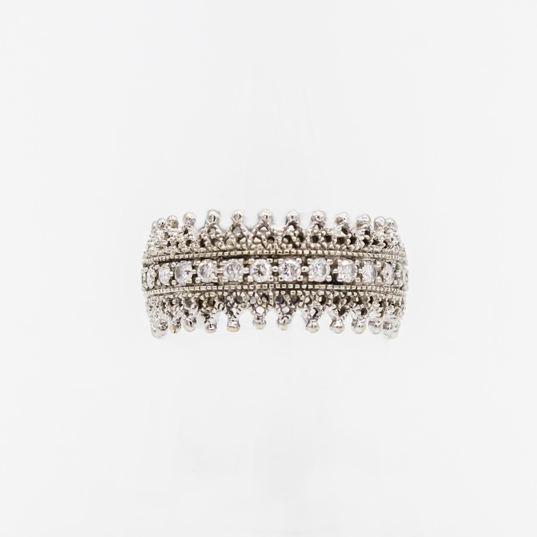 bague diamant dentelle